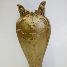 Antigüedades: JARRÓN MODERNISTA ALEACIÓN BRONCE Y ESTAÑO?, DAMAS, NINFA, ART NOUVEAU, ART DECO, ART NOVEAU. Lote 102170735