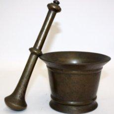 Antigüedades: GRAN ALMIREZ DE FINALES DEL SIGLO XVII, PRINCIPIOS SIGLO XVIII. MORTERO. Lote 102171903