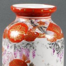 Antigüedades: JARRÓN CERÁMICA JAPONESA PINTADA KUTANI SIGLO XX. Lote 102172475