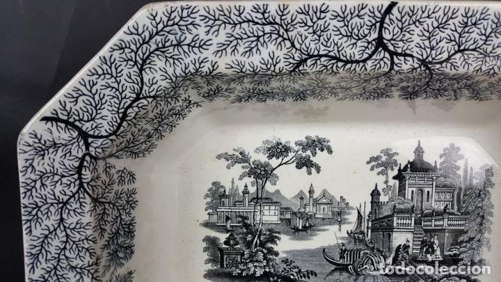 Antigüedades: BANDEJA DE PORCELANA. ESTAMPADO CON ESCENA CLÁSICA. PICKMAN. SEVILLA. SIGLO XIX-XX. - Foto 3 - 102173311