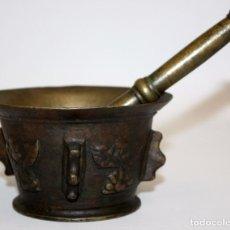 Antigüedades: ANTIGUO ALMIREZ DE MEDIADOS DEL SIGLO XVII . MORTERO. Lote 102173555