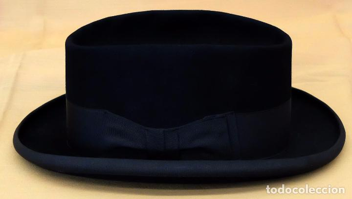 SOMBRERO TIPO BORSALINO EN FIELTRO PARA CABALLERO. MARCA TUSELL & CAMPRODON. CIRCA 1940 (Antigüedades - Moda - Sombreros Antiguos)