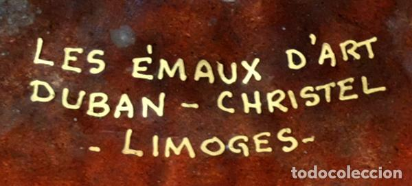 Antigüedades: BONITO PLATO SMALTADO DE MANUFACTURA FRANCESA (Les émaux d'art Duban - Christel Limoges) AÑOS 60 - Foto 4 - 102184359