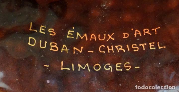 Antigüedades: BONITO PLATO SMALTADO DE MANUFACTURA FRANCESA (Les émaux dart Duban - Christel Limoges) AÑOS 60 - Foto 5 - 102184647