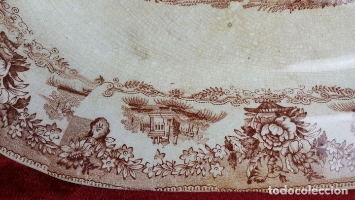 Antigüedades: BANDEJA DE PORCELANA. ESCENA CLÁSICA. STAFFORDSHIRE. INGLATERRA. SIGLO XIX-XX. - Foto 2 - 102194335