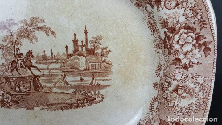 Antigüedades: BANDEJA DE PORCELANA. ESCENA CLÁSICA. STAFFORDSHIRE. INGLATERRA. SIGLO XIX-XX. - Foto 3 - 102194335