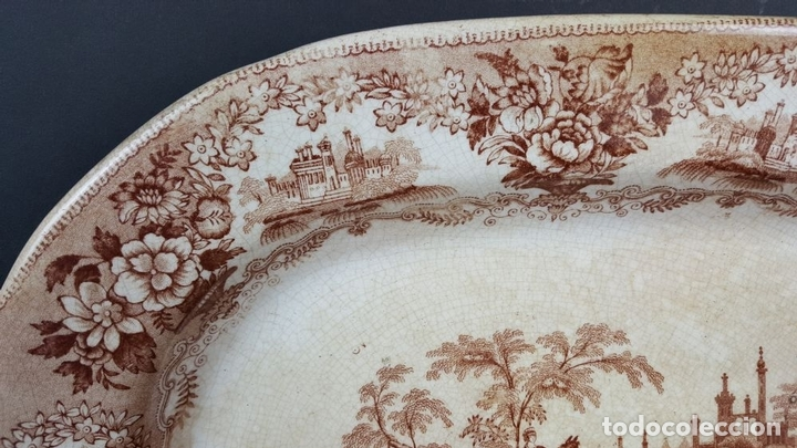 Antigüedades: BANDEJA DE PORCELANA. ESCENA CLÁSICA. STAFFORDSHIRE. INGLATERRA. SIGLO XIX-XX. - Foto 6 - 102194335