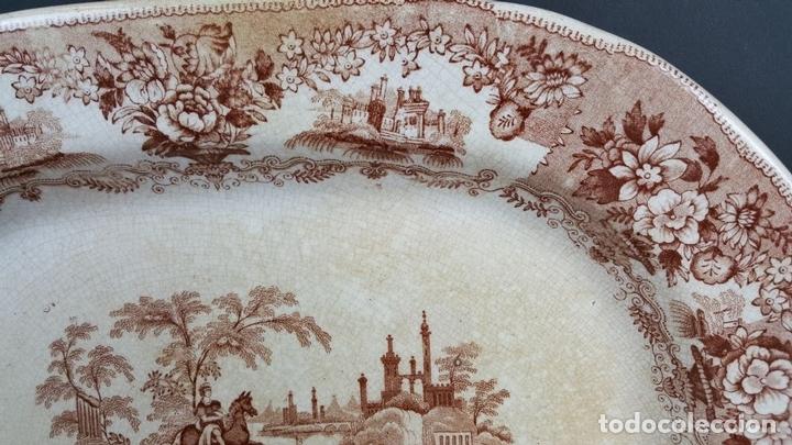 Antigüedades: BANDEJA DE PORCELANA. ESCENA CLÁSICA. STAFFORDSHIRE. INGLATERRA. SIGLO XIX-XX. - Foto 7 - 102194335