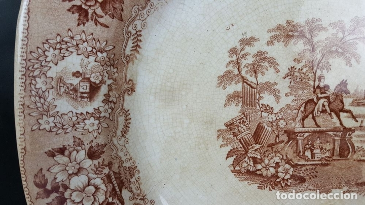 Antigüedades: BANDEJA DE PORCELANA. ESCENA CLÁSICA. STAFFORDSHIRE. INGLATERRA. SIGLO XIX-XX. - Foto 9 - 102194335