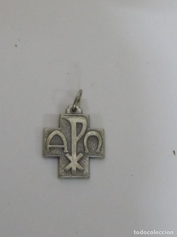 CRUZ PLATEADA, ROMA (Antigüedades - Religiosas - Cruces Antiguas)