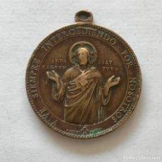 Antigüedades: MEDALLA DEL SAGRADO CORAZÓN DE JESÚS. Lote 102206535