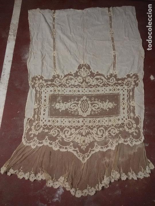 Antigüedades: Gran Cortina XIX bordados - Foto 2 - 102265991