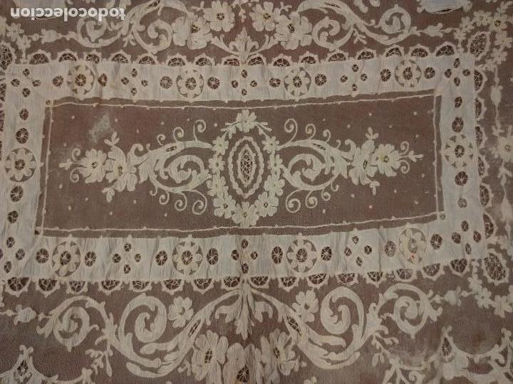 Antigüedades: Gran Cortina XIX bordados - Foto 3 - 102265991