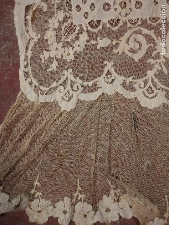 Antigüedades: Gran Cortina XIX bordados - Foto 4 - 102265991