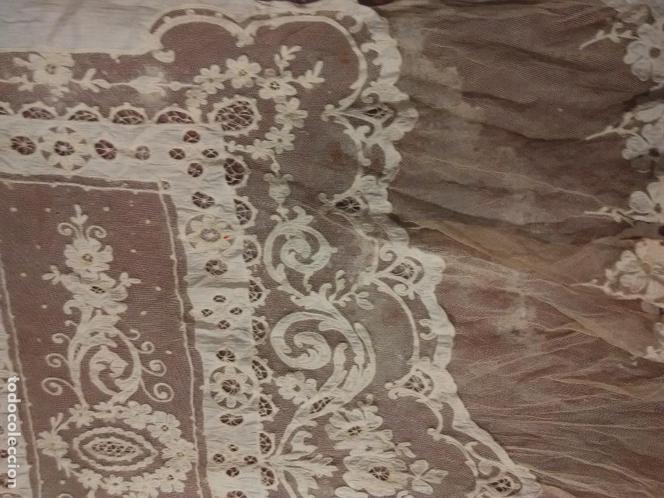 Antigüedades: Gran Cortina XIX bordados - Foto 6 - 102265991