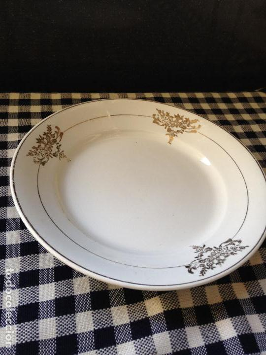 1 PLATO POSTRE DE PORCELANA SAN CLAUDIO OVIEDO (Antigüedades - Porcelanas y Cerámicas - Otras)