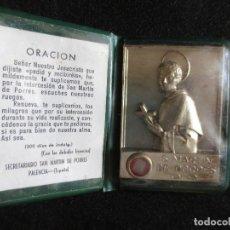 Antigüedades: CARTERITA ORACION A SAN MARTIN DE PORRES O.P CON RELIQUIA. Lote 102325871