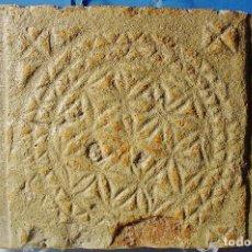 Antigüedades: ANTIGUO LADRILLO VISIGOTICO, VISIGODO, PIEZA ORIGINAL. SIGLO VII. MEDIDAS: 37 X 25 CM. . Lote 102348847