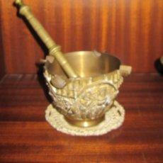 Antigüedades: ANTIGUO ALMIRED DE BRONCE TALLADO, COMPLETO.. Lote 102372267