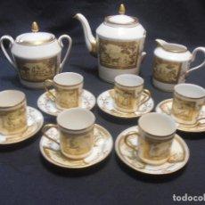 Antigüedades: JUEGO DE CAFE, PORCELANA EL PARDO, 15 PIEZAS. Lote 102381567