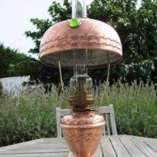 Antigüedades: RARA Y EXCLUSIVA LAMPARA PARISIEN EN COBRE ROJO 1890 PERFECTA FUNCIONMAL Y ESTETICA 224 EUR. Lote 102400207