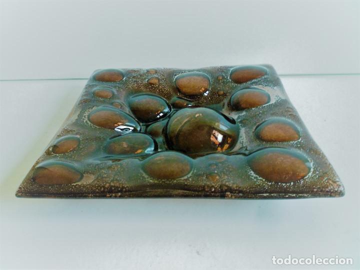Antigüedades: VACIABOLSILLOS CENTRO DE MESA EN VIDRIO SOPLADO - Foto 2 - 102407591