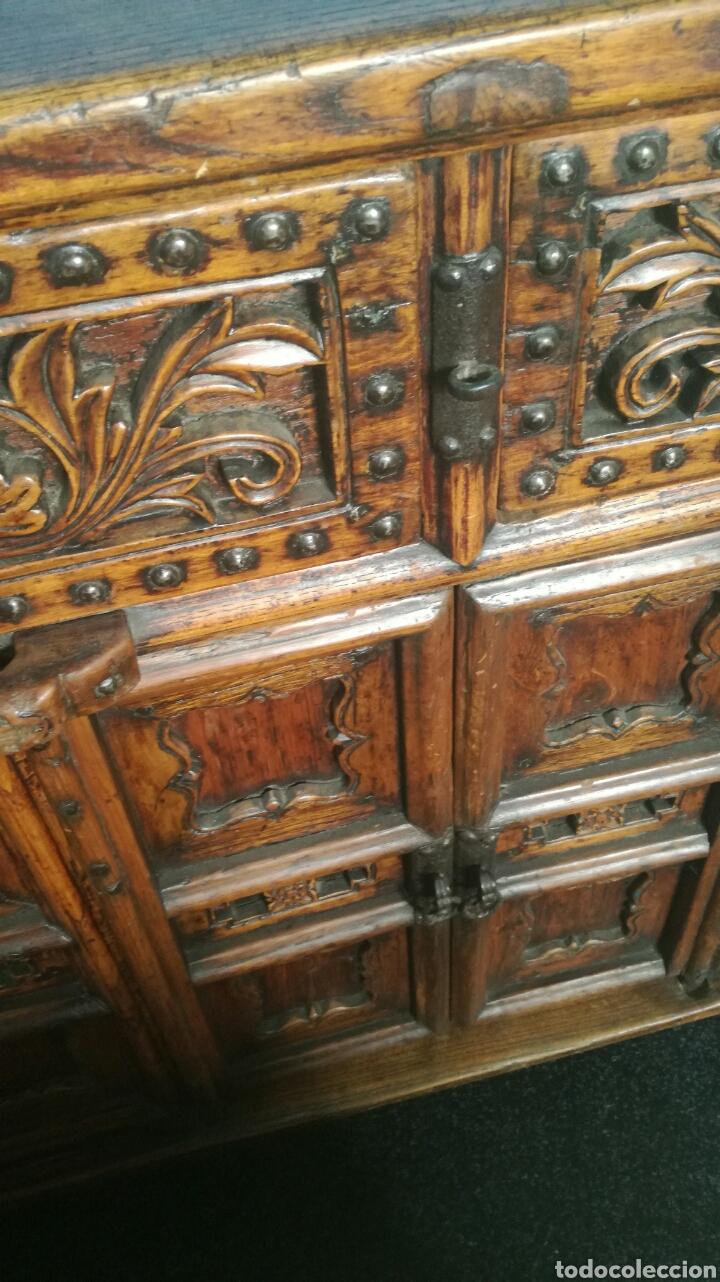 Antigüedades: Taquillon de madera dura - Foto 4 - 102415772