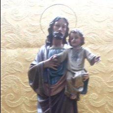 Antigüedades: SAN JOSÉ CON NIÑO EN BRAZOS. Lote 102421839