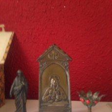 Antigüedades: PORTAPAZ Y MARCO CON SAN JOSÉ. Lote 102423558