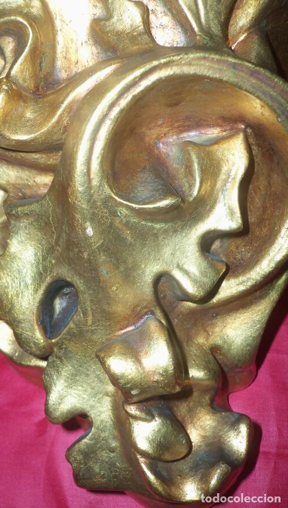 Antigüedades: PEANA EN ESCAYOLA y MADERA DORADA - Foto 2 - 102428011