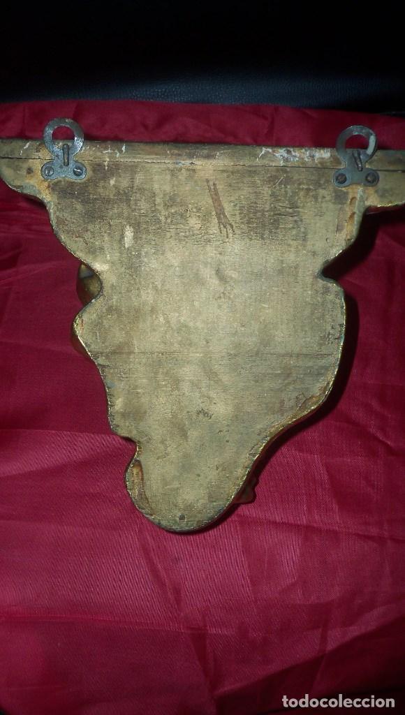 Antigüedades: PEANA EN ESCAYOLA y MADERA DORADA - Foto 4 - 102428011