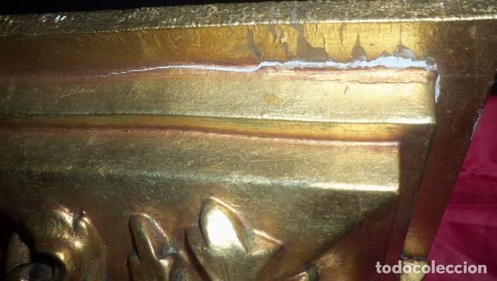 Antigüedades: PEANA EN ESCAYOLA y MADERA DORADA - Foto 7 - 102428011