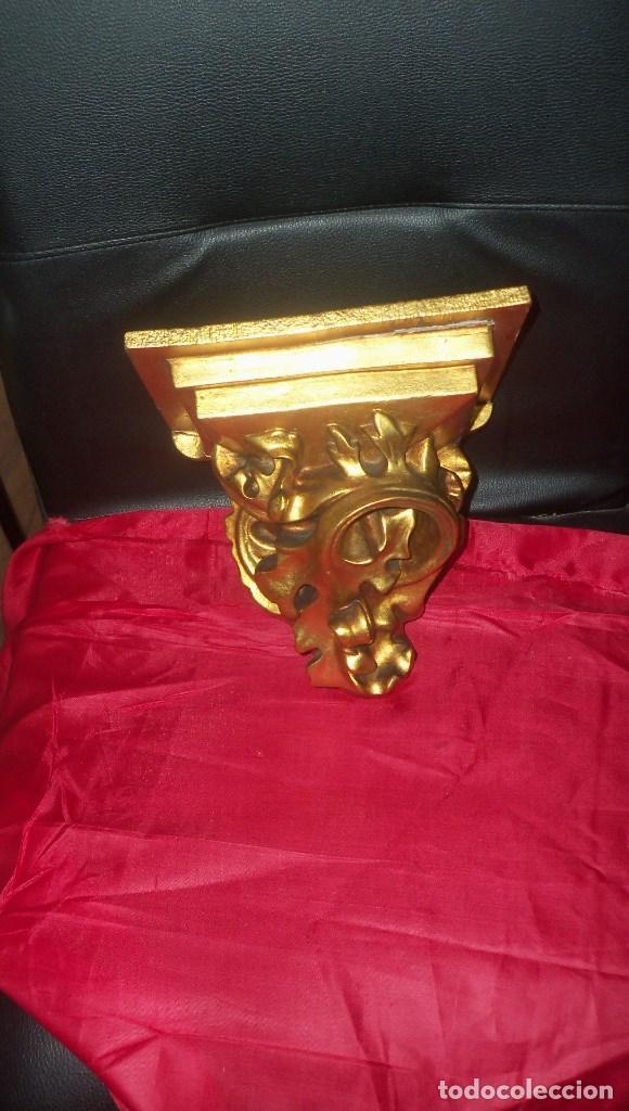 Antigüedades: PEANA EN ESCAYOLA y MADERA DORADA - Foto 11 - 102428011