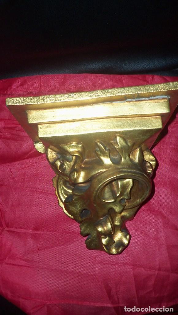Antigüedades: PEANA EN ESCAYOLA y MADERA DORADA - Foto 12 - 102428011