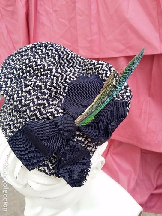 GORRO AÑOS 20 (Antigüedades - Moda - Sombreros Antiguos)