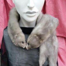 Antigüedades - Fular de dos visones grises. - 102452031