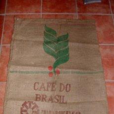 Antiguidades: SACO DE ARPILLERA O YUTE DE CAFÉ DE BRASIL.. Lote 195585621