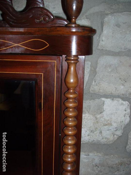 Antigüedades: ANTIGUO TOCADOR SOBREMESA ISABELINO. MARQUETERIA, TALLA, COLUMNA SALOMONICA... - Foto 2 - 102458435