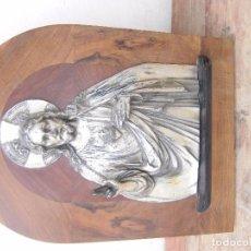 Antigüedades: RETABLO ANTIGUO EN MADERA Y ALUMINIO. Lote 102459403