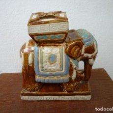 Antigüedades: ELEFANTE DE PORCELANA ORIENTAL. Lote 102465571