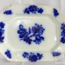 Antigüedades: PRECIOSA Y ANTIGUA BANDEJA FUENTE DE CERAMICA PICKMAN CHINA OPACA SEVILLA,AZUL COBALTO Y ORO. S.XIX. Lote 106678223