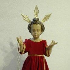 Antigüedades: FIGURA IMAGEN DE NIÑO JESUS MONTAÑESINO. Lote 105696398