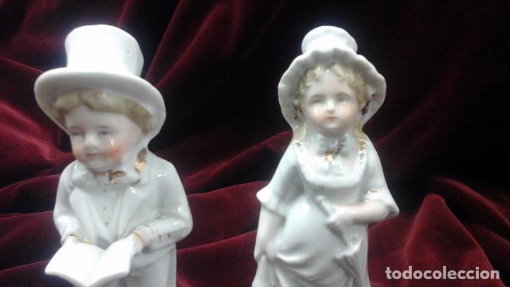 Antigüedades: Pareja de figuras en porcelana inglesa - Foto 7 - 93945205