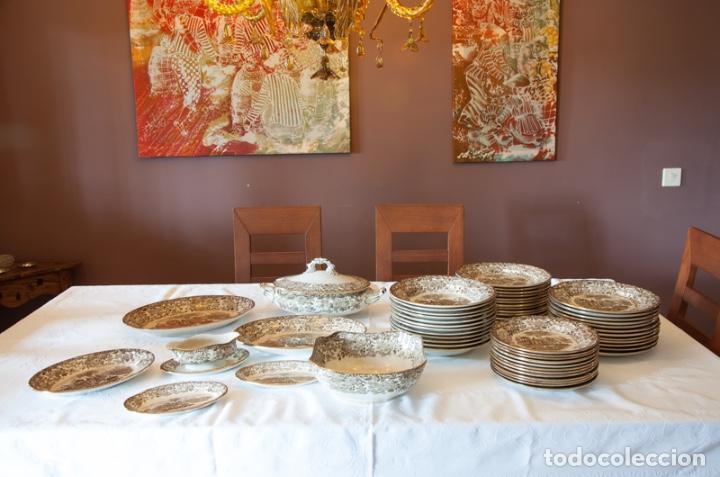 VAJILLA ANTIGUA PORCELANA FINA PICKMAN. MOD. 202 (Antigüedades - Porcelanas y Cerámicas - La Cartuja Pickman)