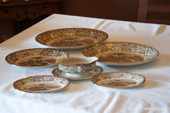 Antigüedades: Vajilla antigua porcelana fina Pickman. Mod. 202 - Foto 2 - 102499159