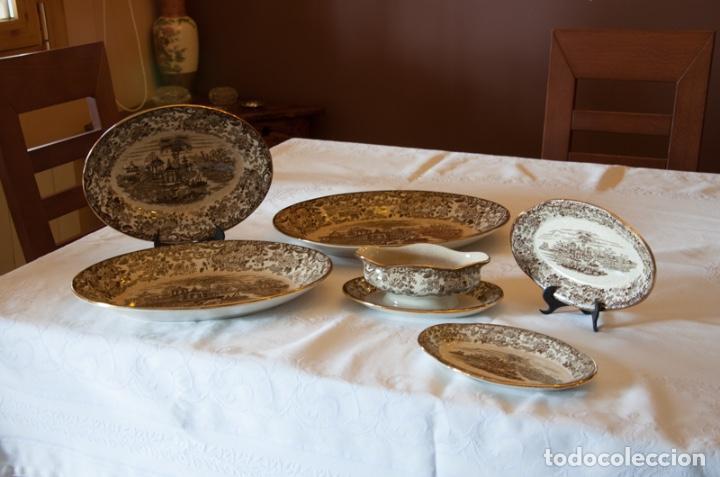 Antigüedades: Vajilla antigua porcelana fina Pickman. Mod. 202 - Foto 3 - 102499159