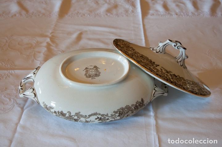 Antigüedades: Vajilla antigua porcelana fina Pickman. Mod. 202 - Foto 5 - 102499159