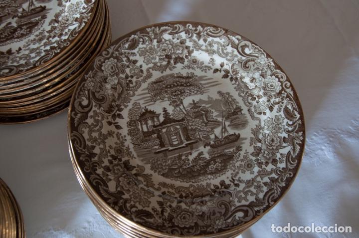 Antigüedades: Vajilla antigua porcelana fina Pickman. Mod. 202 - Foto 8 - 102499159