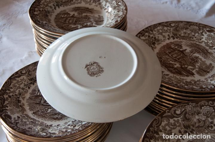Antigüedades: Vajilla antigua porcelana fina Pickman. Mod. 202 - Foto 9 - 102499159