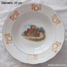 Antigüedades: PLATO ANTIGUO CERAMICA SAN JUAN SEVILLA CASTILLO. Lote 102502907